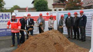 Erster Spatenstich Neubau einer Unterkunft für die Wasserwacht Thüngersheim